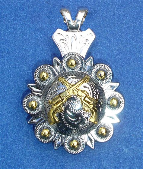 western pendants for jewelry western jewelry bright silver 1851 colt revolvers concho