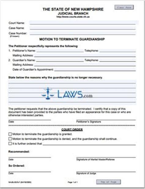 motion  terminate guardianship  hampshire forms