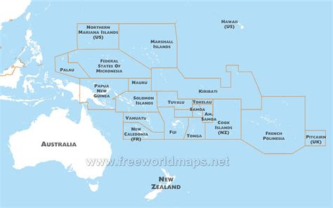 map of oceania countries where we are sigasiga sands residence