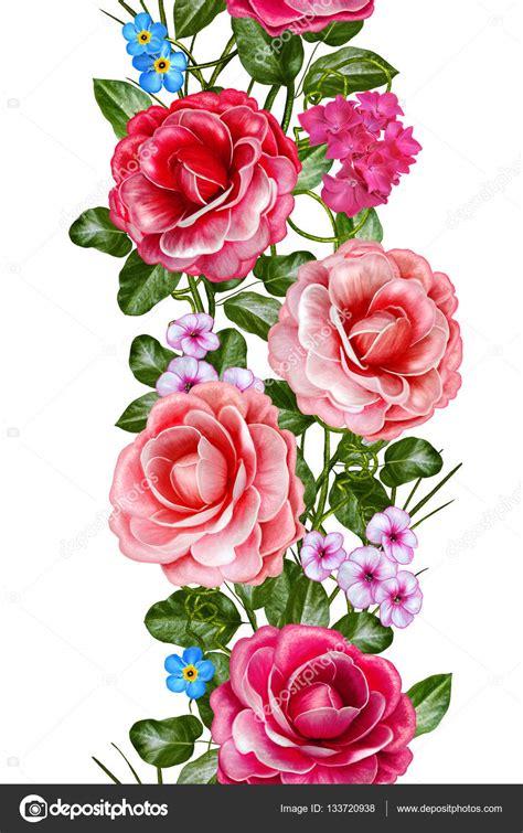 cenefas flores cenefa floral vertical patr 243 n sin fisuras guirnalda de