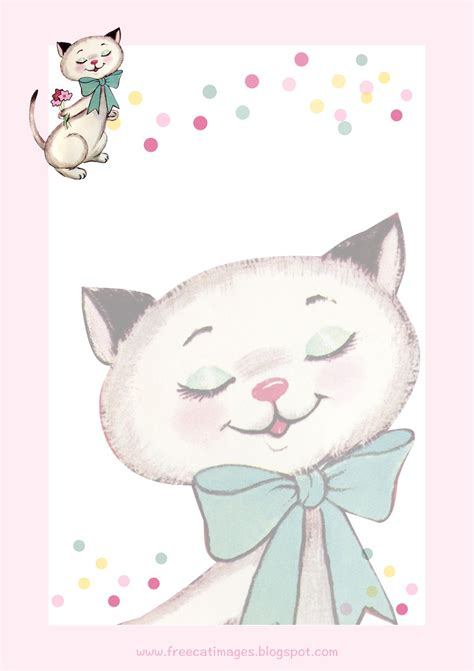 printable cat stationery free cat images free printable vintage cat stationery