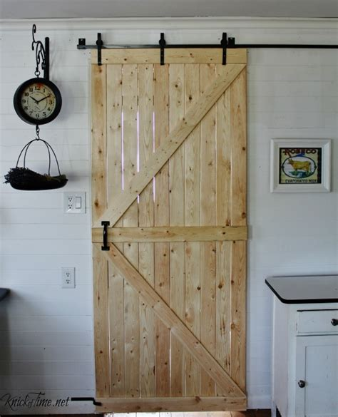Diy Barn Doors Our Diy Barn Door Knick Of Time