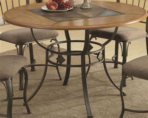 coaster  dining table  metal legs  wood top