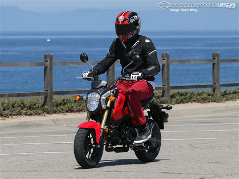 most comfortable motorcycle for tall riders 2014 honda grom 125 first ride photos motorcycle usa