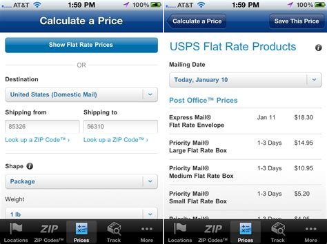 mobile usps usps mobile app finally features a postage price calculator