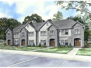 Multiplex Housing Plans Small by Laboure European Fourplex Home Plan 055d 0404 House