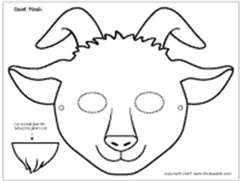 printable mask goat goat mask printable templates coloring pages