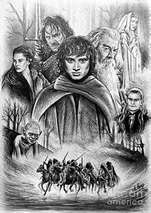 The Lord Of The Rings Drawings for Sale