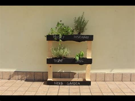build  pallet herb garden youtube