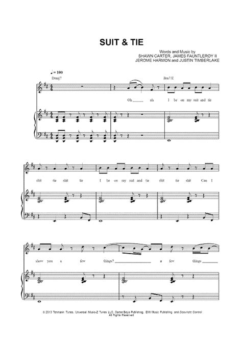 suit tie sheet for piano and more