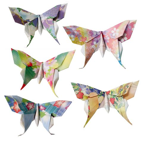 Swallowtail Butterfly Origami - 20 small swallowtail 3d origami butterflies by pullingpetals