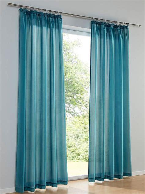 Blaue Gardinen Schals by Vorhang Petrol Cheap Gardinen Vorhang Transparent