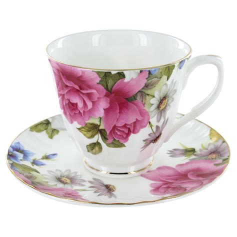 Tea Cup by Grace S Bone China Cup And Saucer Set Of 4