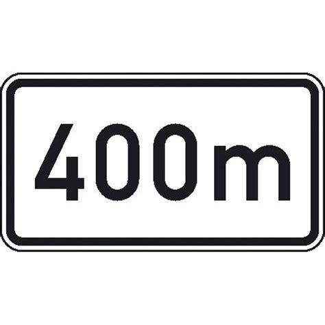 Baustellenschild Mit 100 M by Zusatzschild 400m