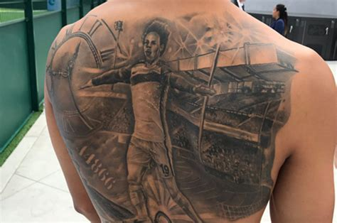 millwall tattoo designs leroy sane manchester city gets ink of