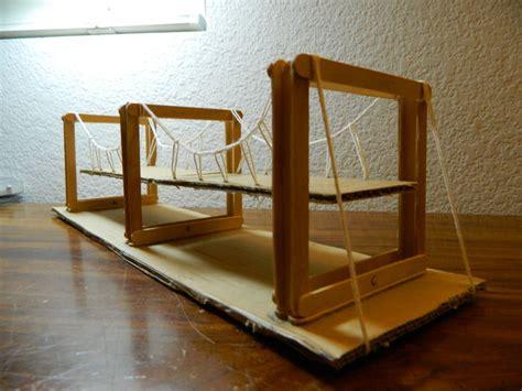 Popsicle Stick Suspension Bridge Simple Suspension Bridge Model