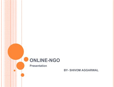 ppt templates for ngo business model for online ngo powerpoint slideshow view