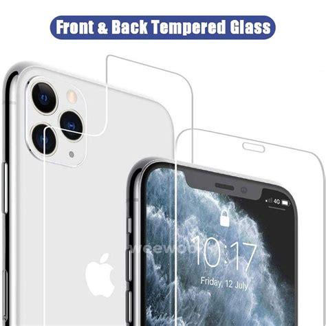 tempered glass depan  belakang iphone   pro  mini