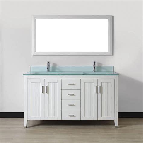 spa vanities for bathrooms shop spa bathe jaq white integrated double sink bathroom