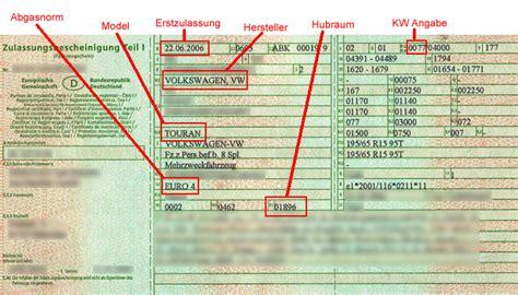 Welche Kba Nummer Hat Mein Auto by Welche Felge Reifen Fahrzeugschein Auto T 252 V Felgen
