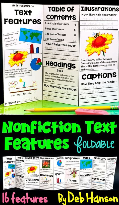 prose the of nonfiction books 25 best ideas about text features on