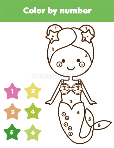 educational games coloring pages children educational game coloring page with mermaid