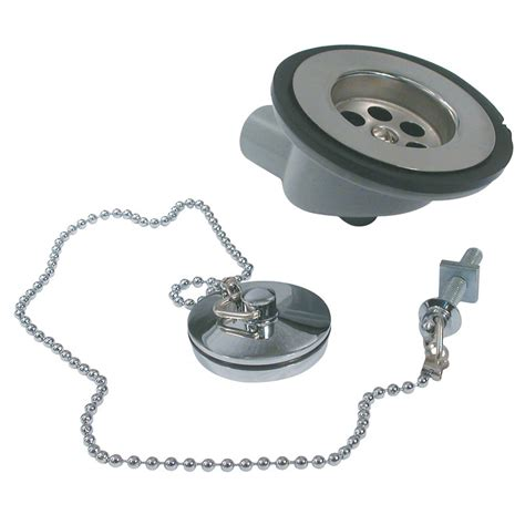 boat plug with chain chrome sink waste plug chain products plumbing