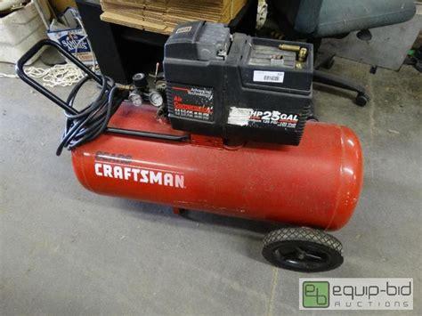 Craftsman 3.5 HP 25 gallon air compressor .   Wichita Midtown Liquidation Auction!   Equip Bid