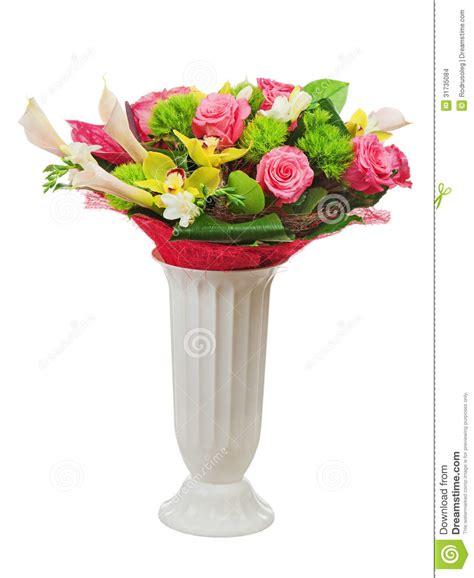 Colorful Flower Vase by Colorful Flower Bouquet Arrangement Centerpiece In Vase