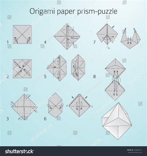 Origami Rectangular Prism - origami prism tutorial origami handmade