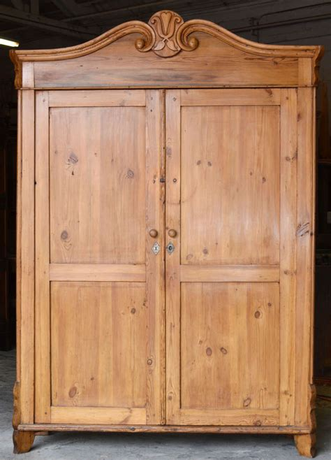 antique wardrobes and armoires wide and shallow antique baltic armoire at 1stdibs