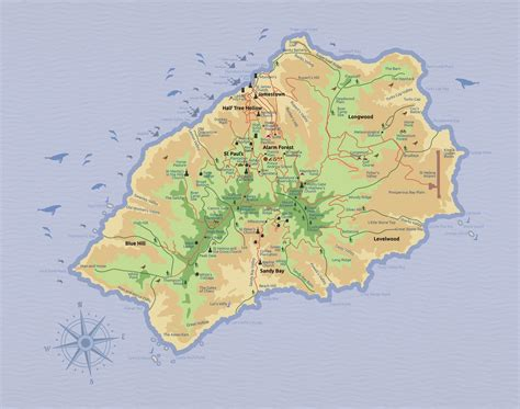 st tourist map st helena tourist map