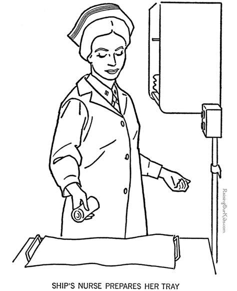 nurse coloring page coloring home