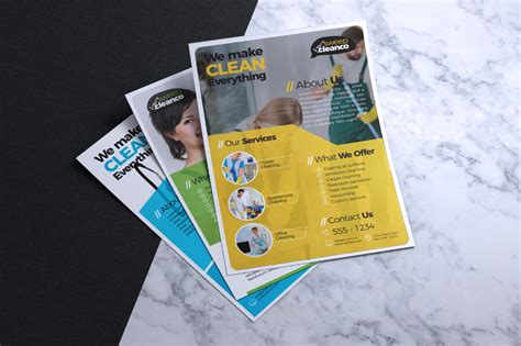 cleaning company flyers template cleaning service company flyer template