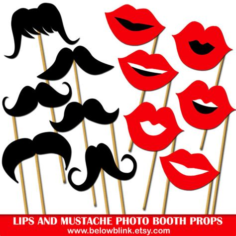 printable photo booth props on a stick lips and mustaches photo props printable photo booth props