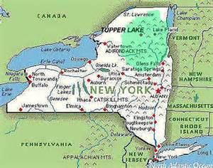 New York State Parks Map by Adiron Park Map