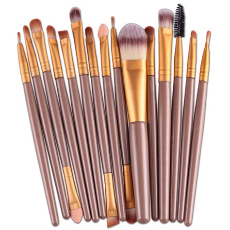Toiletry Kit Brush Make Up 15 Set new professional 15 pcs makeup brushes set tools make up