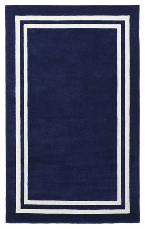 navy border rug decorator border rug royal navy rugs other metro by pbteen