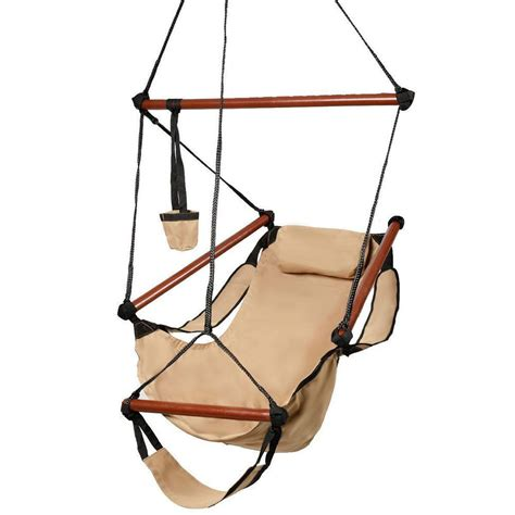hanging chairs outdoor deluxe air hammock hanging patio tree sky swing chair