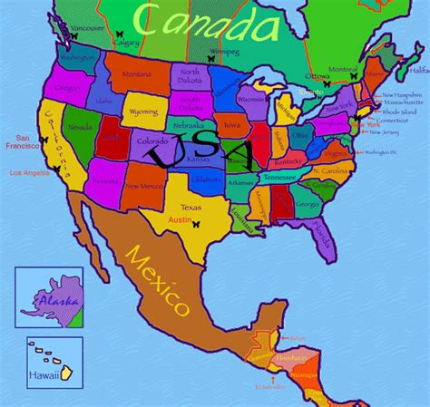 world map america world maps with countries names