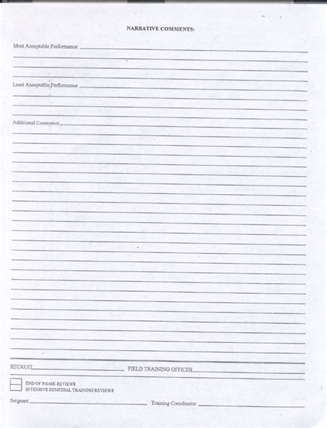Photo On The Job Training Evaluation Form Images Field Officer Template