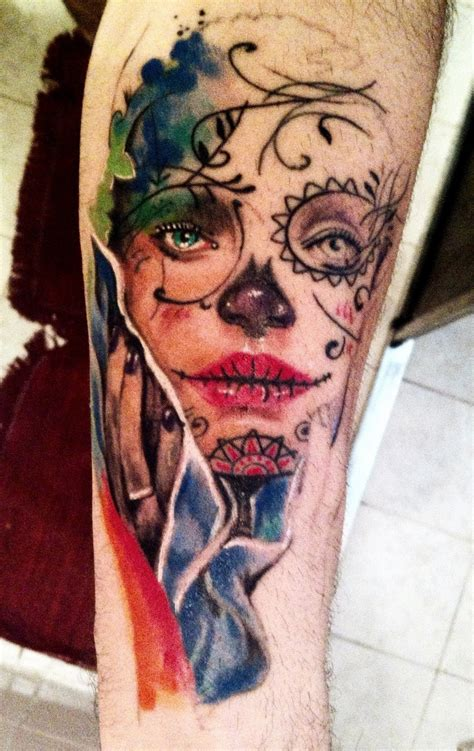 catrinas tattoo la catrina work in progress by tino led s