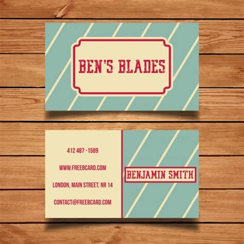 retro business card template retro business card template vector free