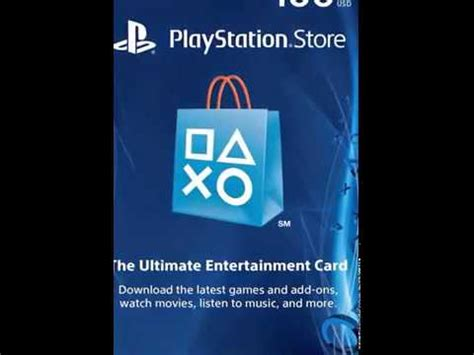 Playstation Store Digital Gift Card - full download 100 playstation store gift card ps3 ps4 ps vita digital code youtube