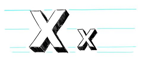 Drawing X how to draw 3d letters x uppercase x and lowercase x in