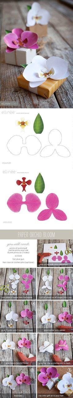 printable paper orchid 1000 ideas about easy paper flowers on pinterest paper