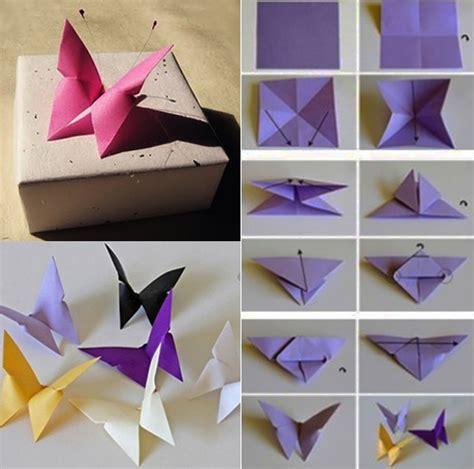 schmetterling falten schmetterling origami als dekoration freshouse