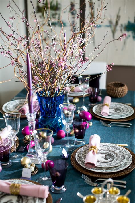 Purple Dining Room Ideas elegant easter table decor huffpost