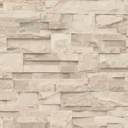 muriva bluff slate stone block brick effect wallpaper beige j20407