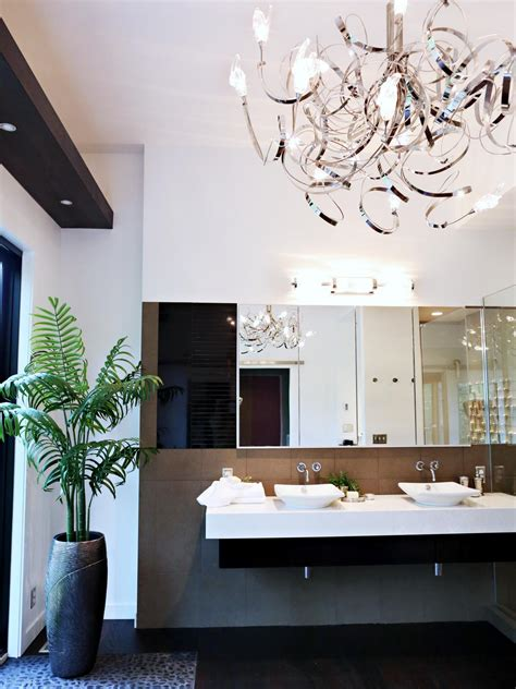 Modern Bathroom Chandeliers Bath Crashers Hgtv